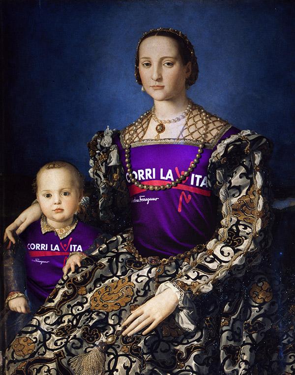 Agnolo Bronzino, Ritratto di Eleonora di Toledo col figlio Garzia 2010