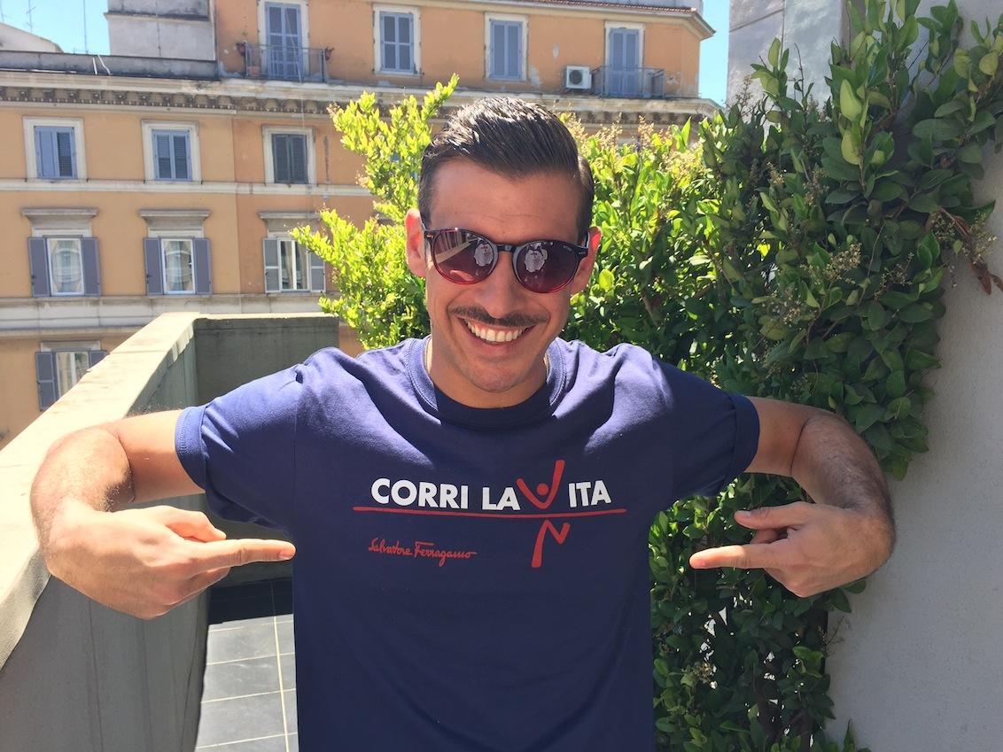 Francesco Gabbani testimonial corri la vita