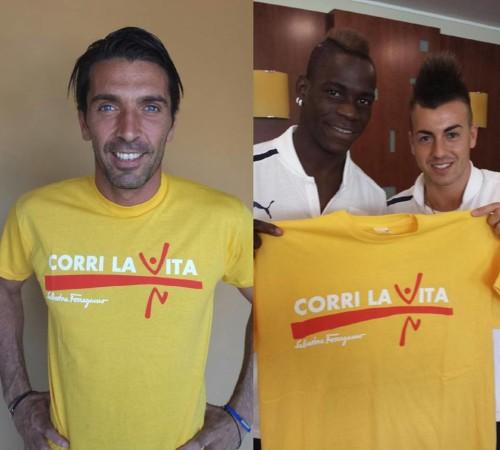 Mario Balotelli, Stephan El Shaarawy e Gigi Buffon