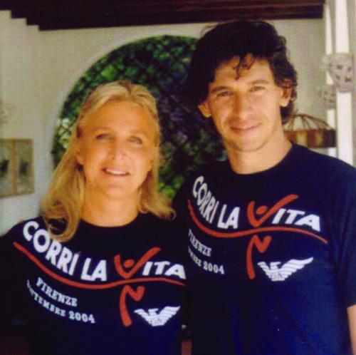 Demetrio Albertini e Eleonora Frescobaldi