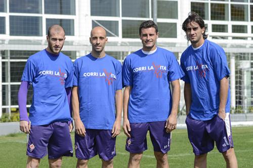 Alberto Aquilani, Manuel Pasqual, Borja Valero, Cristian Ezequiel Llama