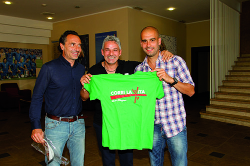 Roberto Baggio, Pep Guardiola e Cesare Prandelli