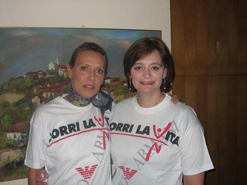 Cherie Blair e Sara Carello
