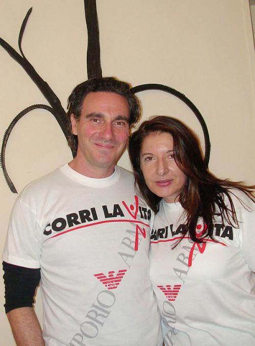 Paolo Carnevali e Marina Abramovic