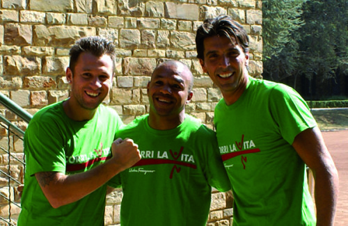 Antonio Cassano, Gigi Buffon e Leonard Bundu