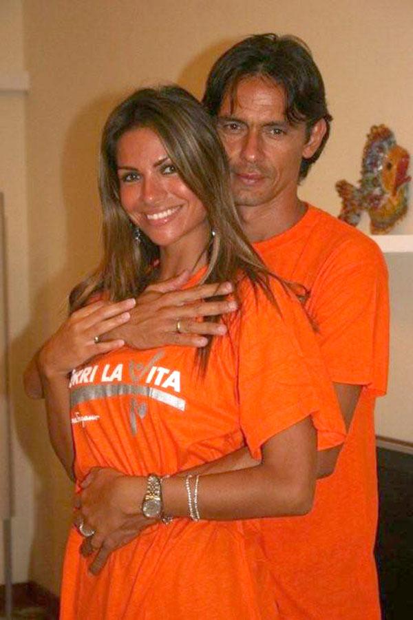 Filippo Inzaghi e Alessia Ventura