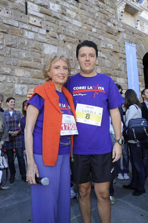 Matteo Renzi e Bona Frescobaldi