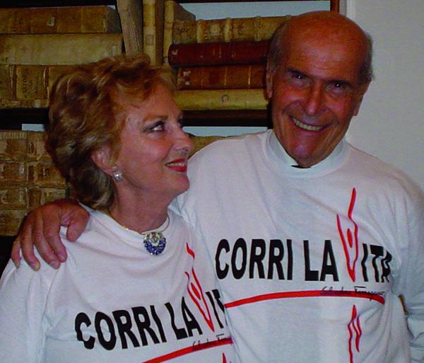 Umberto Veronesi e Bona Frescobaldi