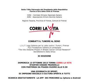 copertina comunicato CORRI LA VITA
