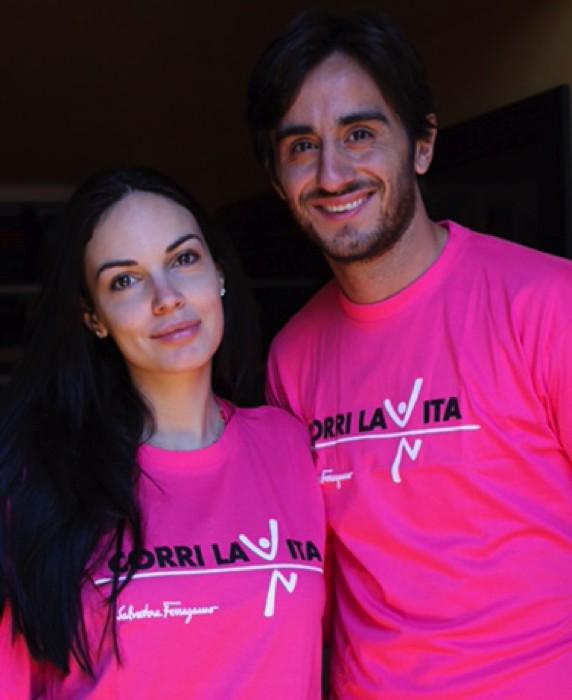 Alberto Aquilani e Michela Quattrociocche - Corri la Vita 2015