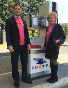 Clemente Cecchi, Amministratore Delegato Aquila Energie, e Bona Frescobaldi, Presidente Associazione CORRI LA VITA Onlus